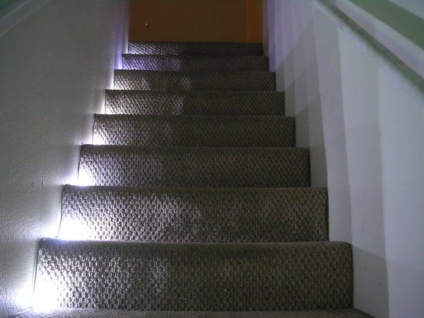 Stairway LED Lighting With IR Trip Sensor