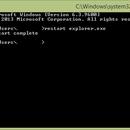 Make a program restart command