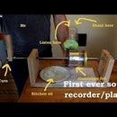 Phonograph - Sound Recorder/player on Tinfoil
