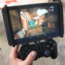 Android Tablet PS3 / Xbox360 Controller Mount - I made it at TechShop
