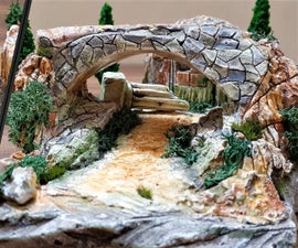 How to Make Old  House Diorama