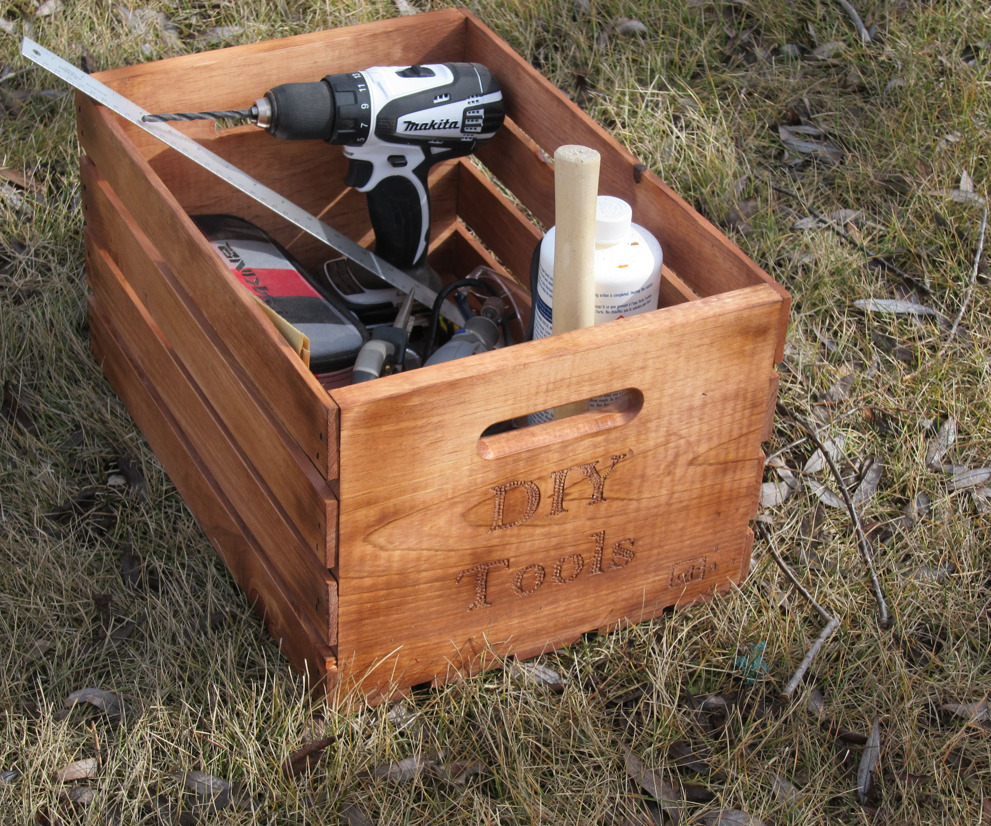 DIY Tools Crate   Wood working and just a fun project