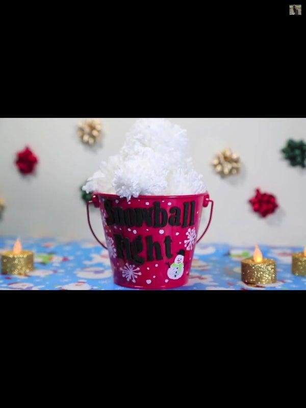 DIY Snowball Pom Poms!