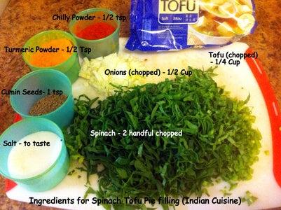 Make Spinach Tofu Pie Filling