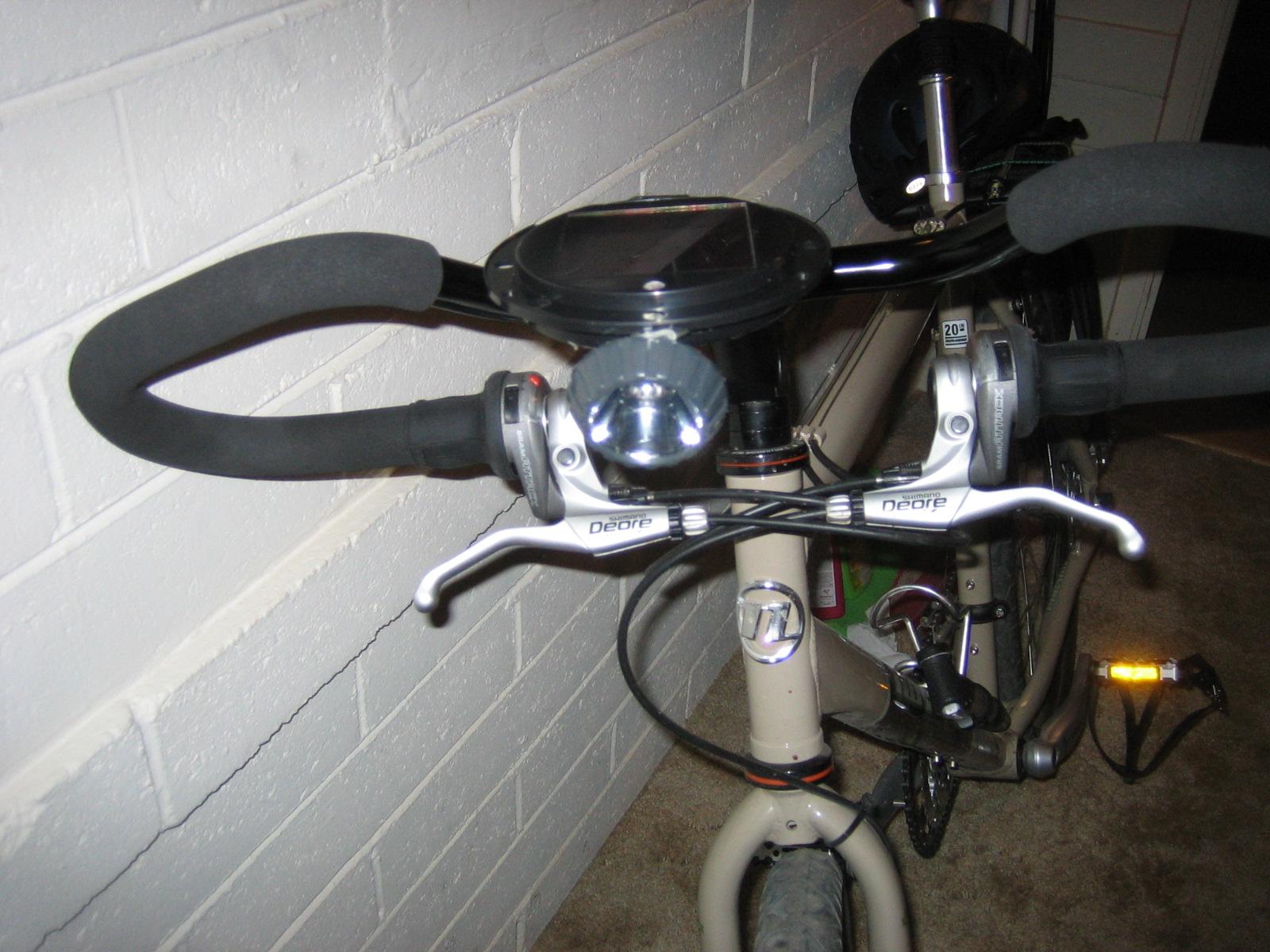 Solar bike light