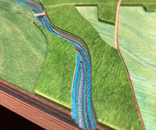 定制(彩色)胶合板+ 3D地图