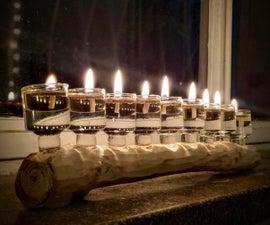 DIY Menorah (Hanukkiah) - an Oil Lamp With a Story!