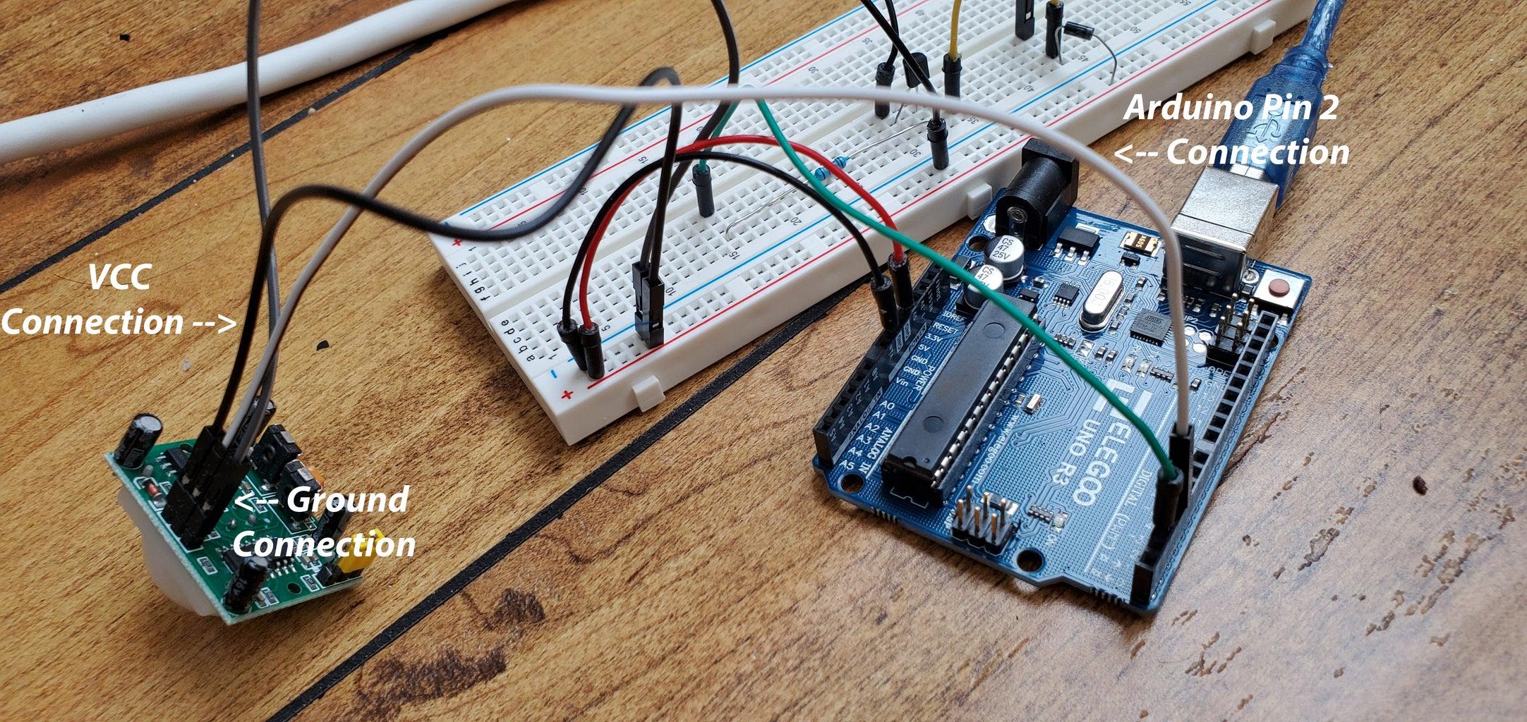 Connecting the PIR Motion Sensor