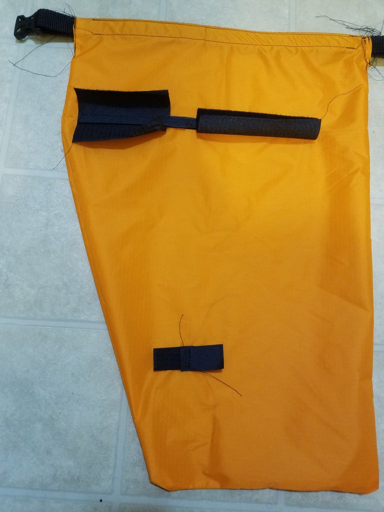 Hang the Pannier, Mark for the Bottom Strap, and Sew the Bottom Strap