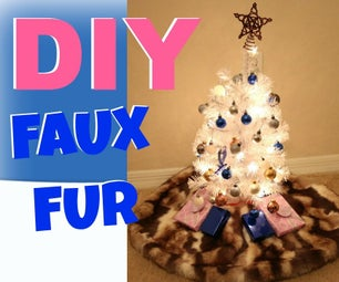 DIY Faux Fur Christmas Tree Skirt | MINI TREE