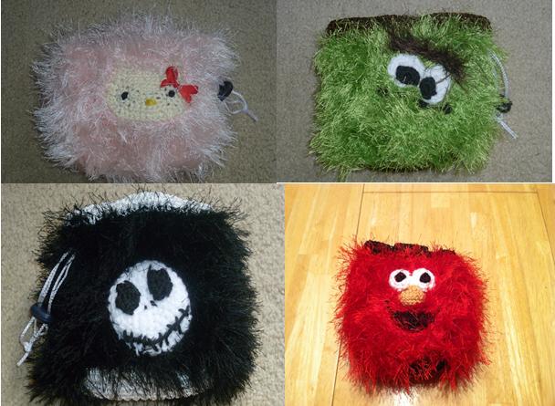 Fuzzy Crochet Bags