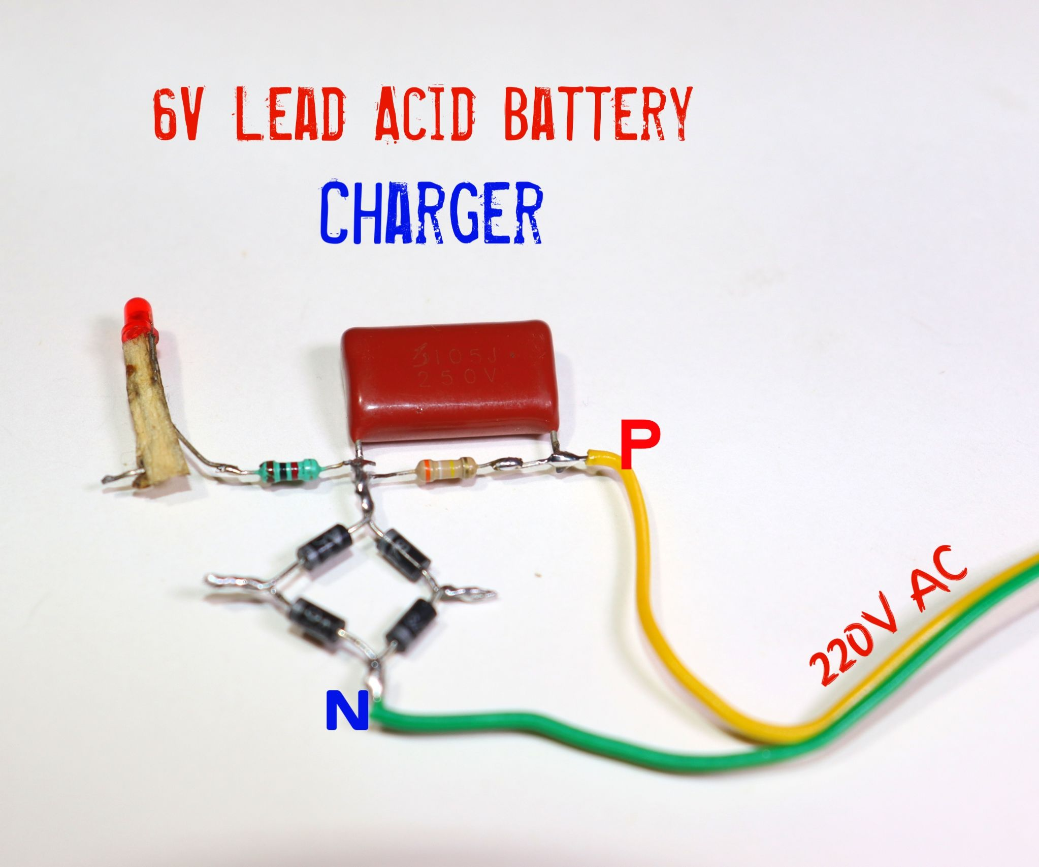How to Make 6V Lead Acid Battery Charger : 11 Steps - Instructables | Battery Charger Transformer Wiring Diagram |  | Instructables