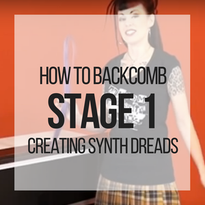 How to Backcomb: Stage 1 for Creating Synthetic Dreadlocks