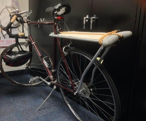 Turn a Crutch Into a Bike Rack