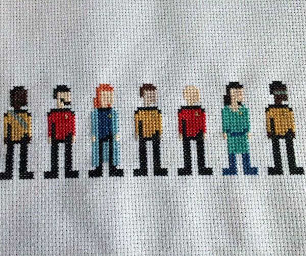 Star Trek Cross Stitch: the Next Generation Crew