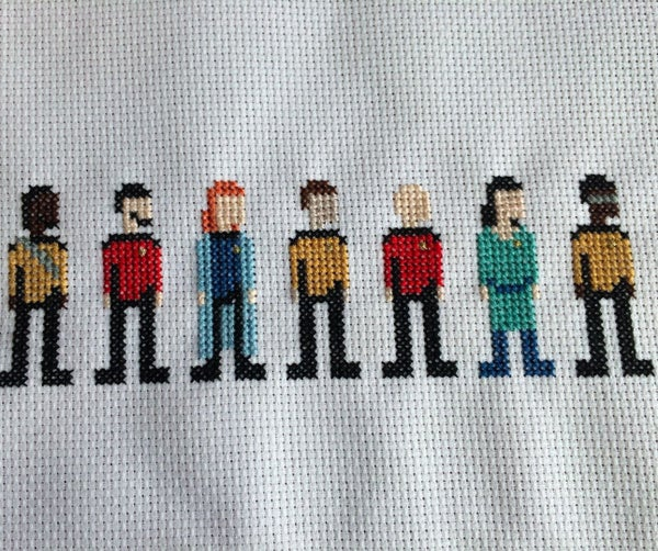 Star Trek Cross Stitch: the Next Generation Crew