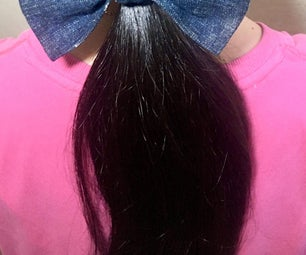 No Sew Easy Bow Hair Tie