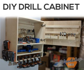 How to Make a Drill Charging Cabinet | DIY Woodworking