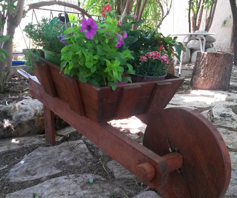 Rustic Wheelbarrow Flower Planter