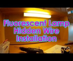 Easy Hidden Wire Fluorescent Desk Lamp Installation