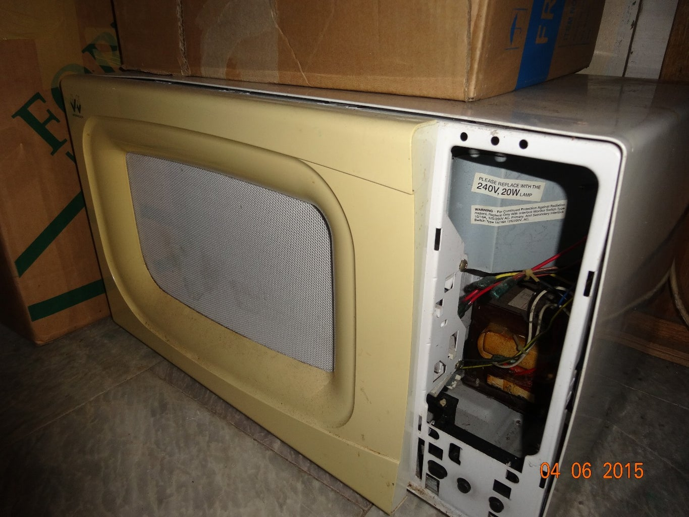 Disassembling the Oven