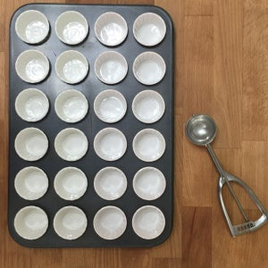 Line a 12 or 24 Cupcake Pan With Cupcake Liners. Have Ready an Ice-cream Scoop to Spoon the Batter Into the Liners.