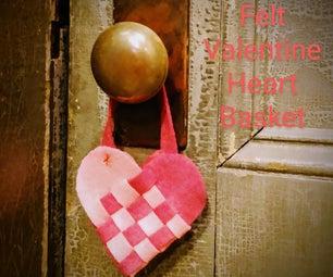 Felt Valentine Heart Basket