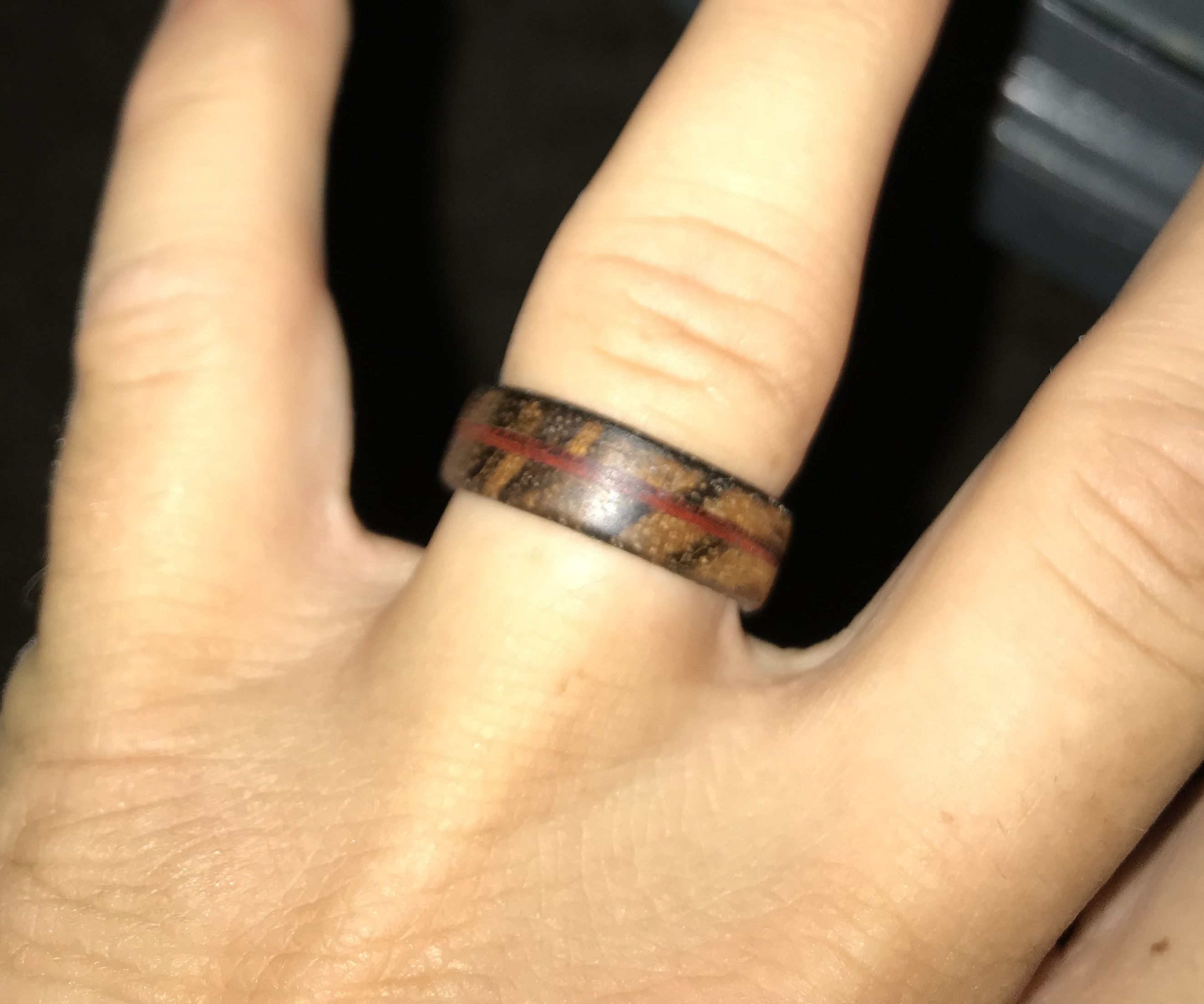 Wooden Wedding Ring Made With Basic Tools