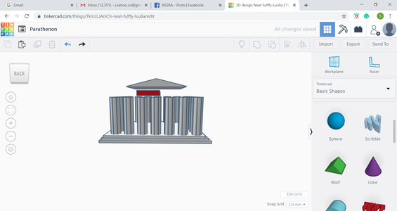 Making the Upper Rectangular Roof