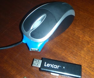 Mouse With USB Port (optional Internal Drive)