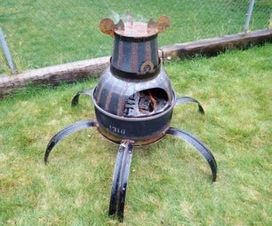 Backyard Guardian: Steel Drum Fire Pit