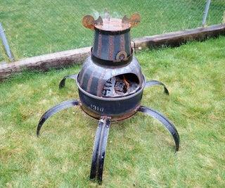 后院守护者:钢桶火坑