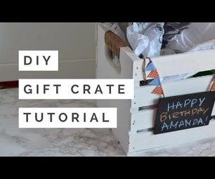 DIY Pallet Gift Crate