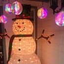 "3D Printed Illuminated Large 7"" Ornament - Aurora Borealis"