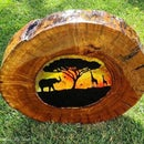 Wooden Suncatcher (African Sunset)