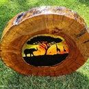 Wooden Suncatcher (African Sunset)