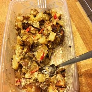 The Tastiest Tater Salad Around! Vegan and Low Fat :)
