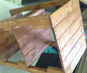 Shipping Pallet Nightstand With Charging Station