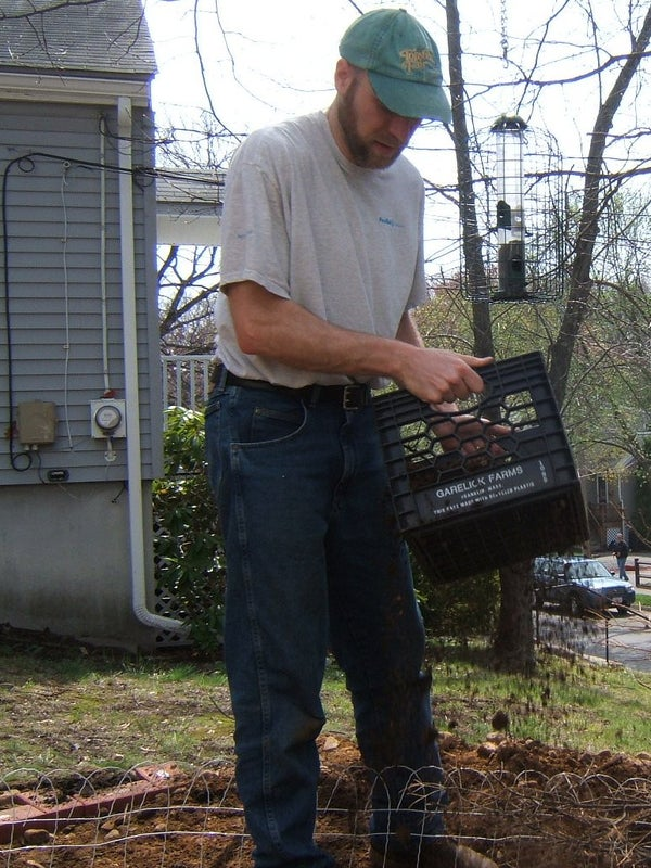 Milk-crate Soil Sifter