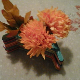 Popsicle Stick Flower Vase - Rainbow
