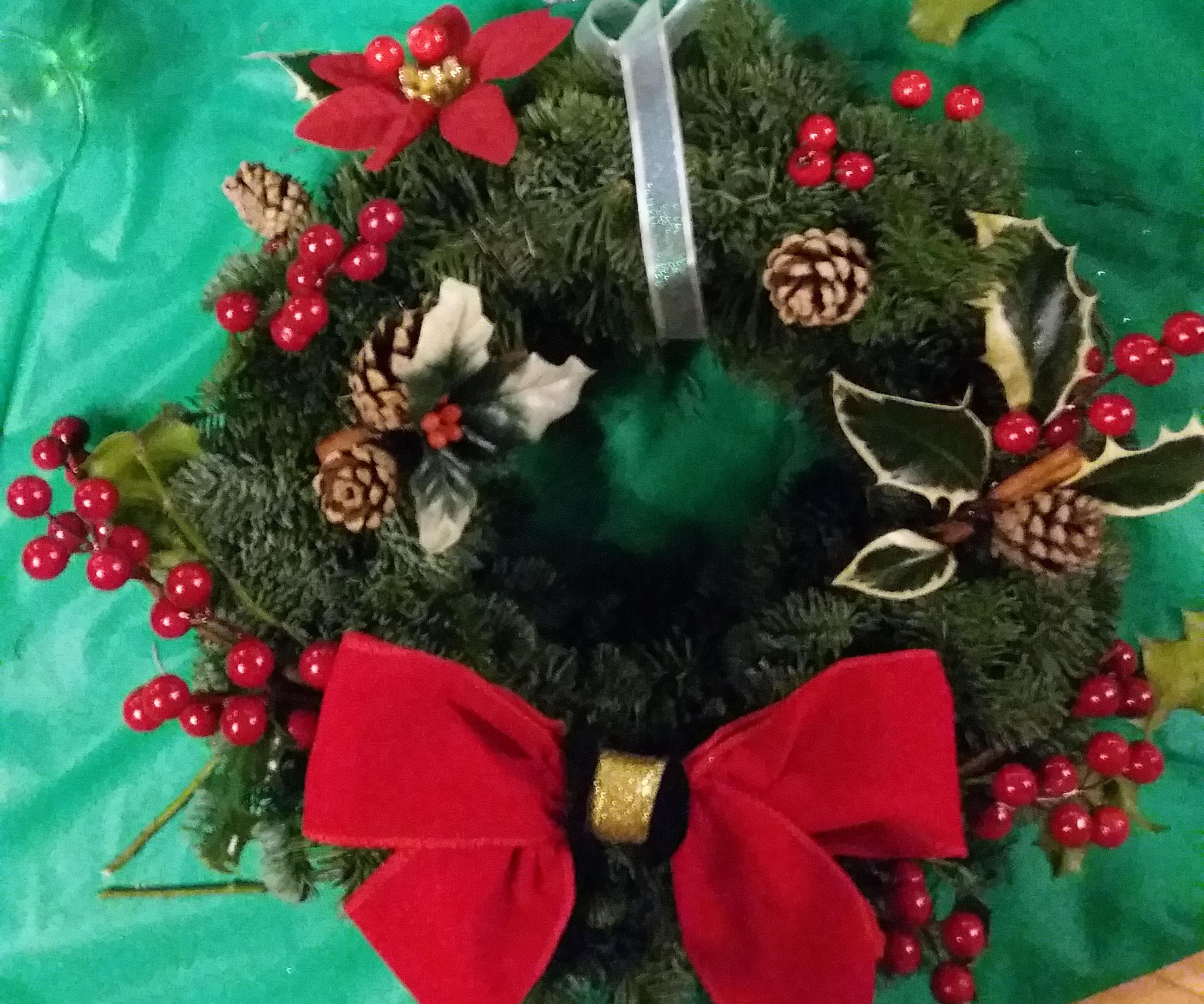 Traditional Natural Christmas Wreath