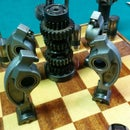 Automotive Chess Set: Knights of the Square Chessboard