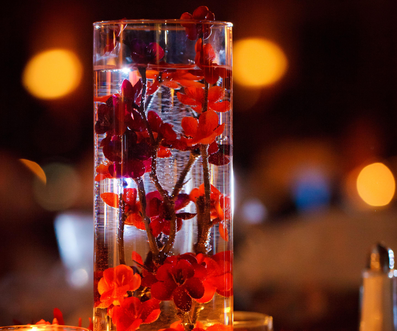 Simple, Elegant, Artificial Flower Wedding Centerpieces