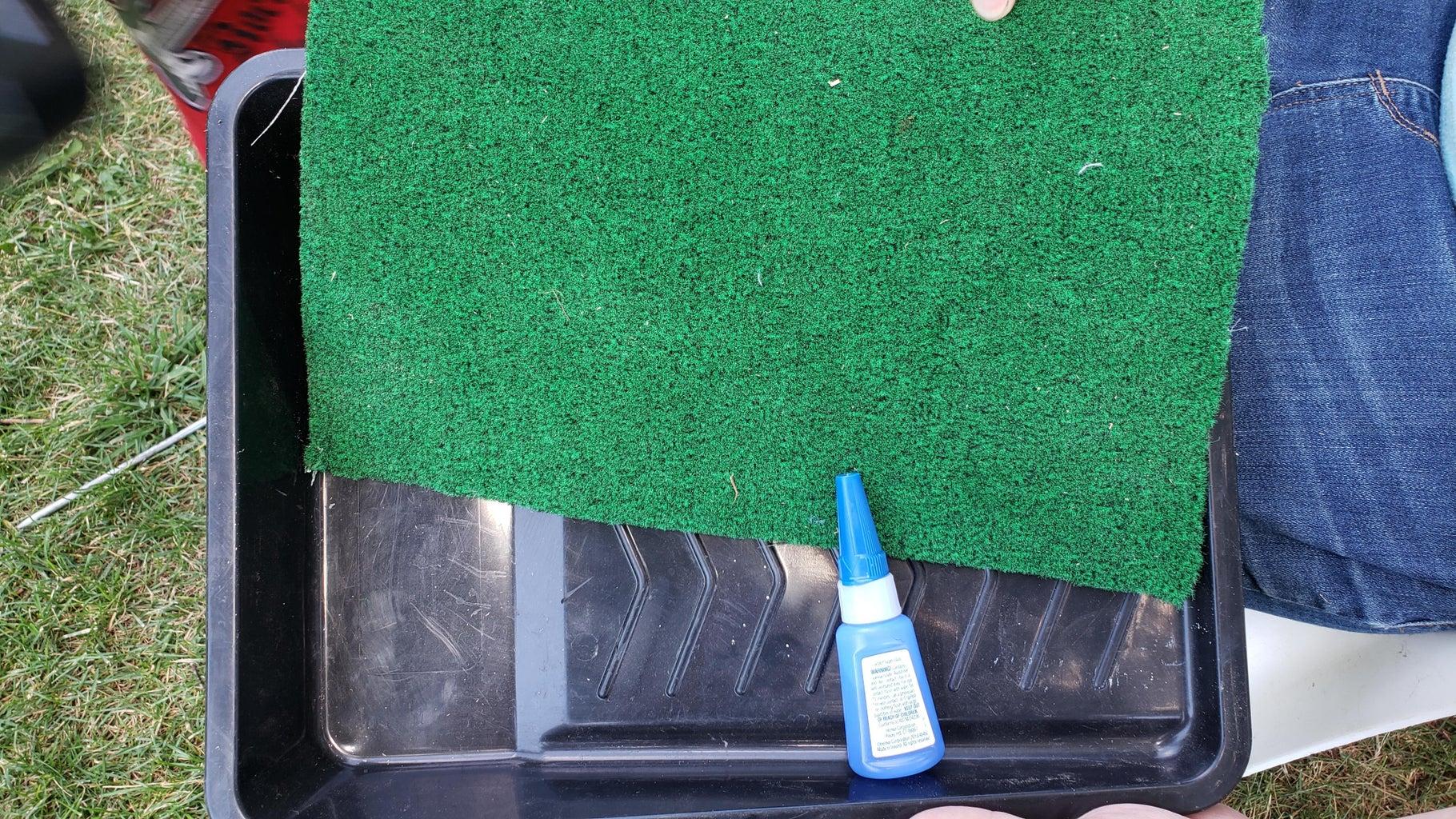 Carpeting the Paint Pans
