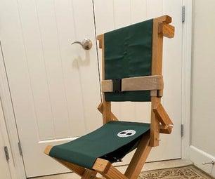 Craftsman Airplane Wheelchair - DIY Personal Portable Aisle Chair (Wood)
