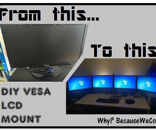 VESA mounting non-VESA monitors, cheap and professional