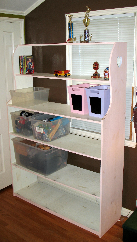 Toy Bin Storage Shelf