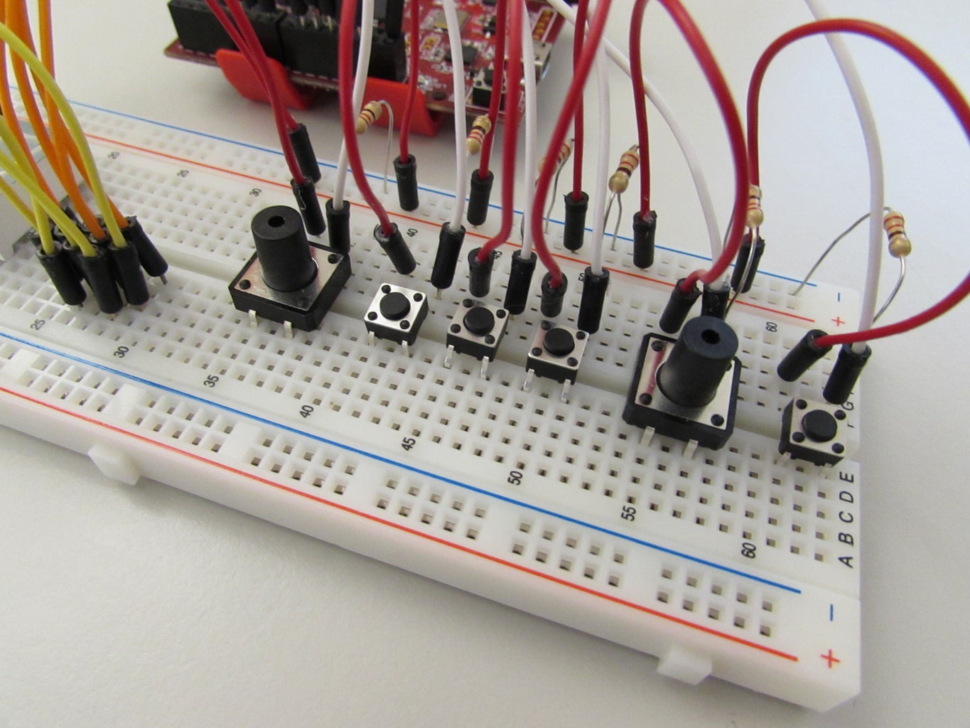Setting Up the Circuit- Buttons, Buttons, Buttons