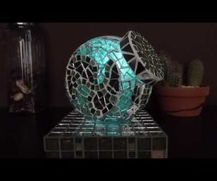 Magic Colour Changing Mosaic Lamp Using Wireless Power and Proximity Sensor
