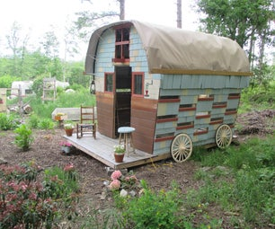 Gypsy Wagon Built From Salvaged Materials
